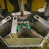 pobranie próby gleby z trzech głębokości